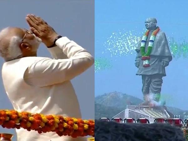 PM Modi inaugarates Statue of Unity
