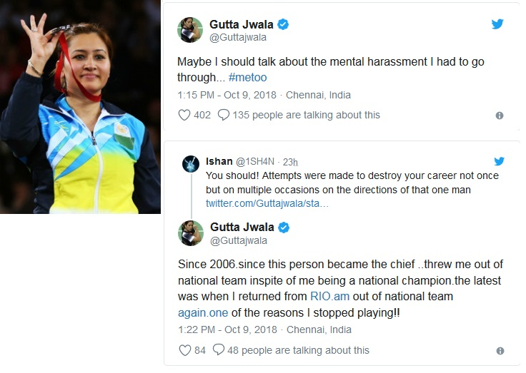 Jwala Gutta Shares Her #MeToo Moment on Twitter