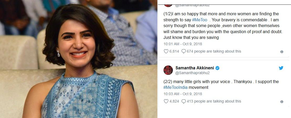 Samantha Akkineni thank #MeToo survivors for sharing their stories