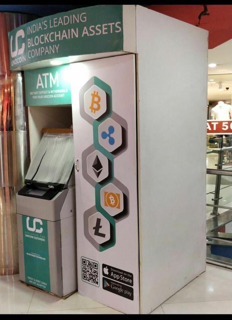 India's first bitcoin ATM kiosk in bengaluru presented by Unocoin company